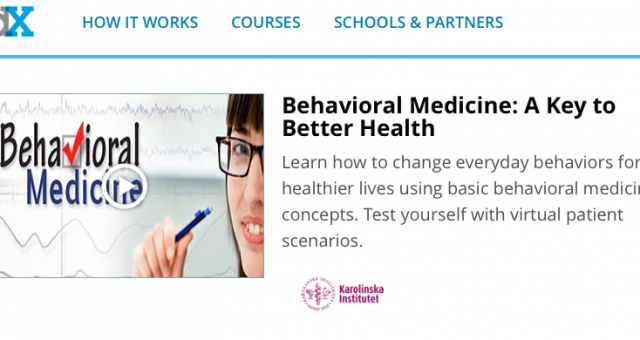 MOOC om behavioral medicine